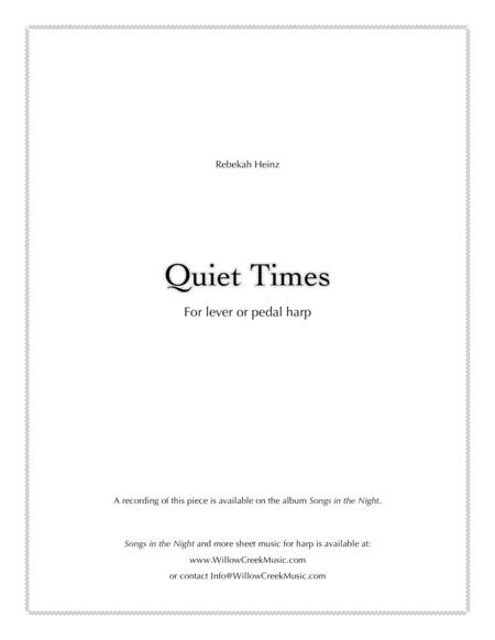 Quiet Times - for solo harp