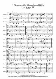 Mozart: Divertimento No.4 Mvt.III Menuetto and Trio from