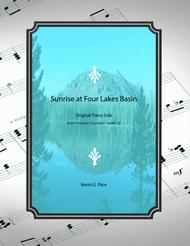 Sunrise at Four Lakes Basin - original piano solo