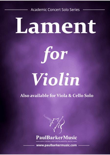 Lament For Violin (Score & Parts)
