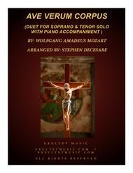 Ave Verum Corpus (Duet for Soprano and Tenor Solo - Piano Accompaniment)