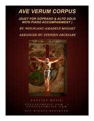 Ave Verum Corpus (Duet for Soprano and Alto Solo - Piano Accompaniment)