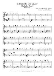 Hyfrydol Tune, (In Humility, Our Savior), Piano Solo