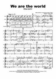 We are the world - Michael Jackson/Lionel Richie - String Quartet