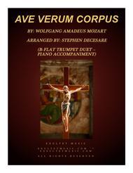 Ave Verum Corpus (Duet for Bb-Trumpet - Piano Accompaniment)
