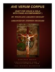 Ave Verum Corpus (Duet for Violin and Viola - Piano Accompaniment)