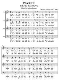 Belle Qui Tiens Ma Vie [Pavane] SATB A Cappella