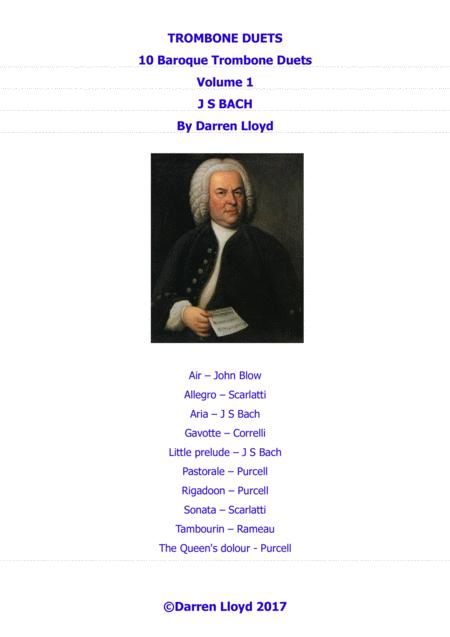 Trombone duets - 10 Baroque Trombone (bass clef) duets - Volume 1