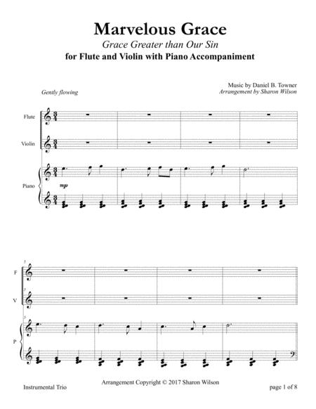 Marvelous Grace (Flute and/or Violin Duet with Piano Accompaniment)