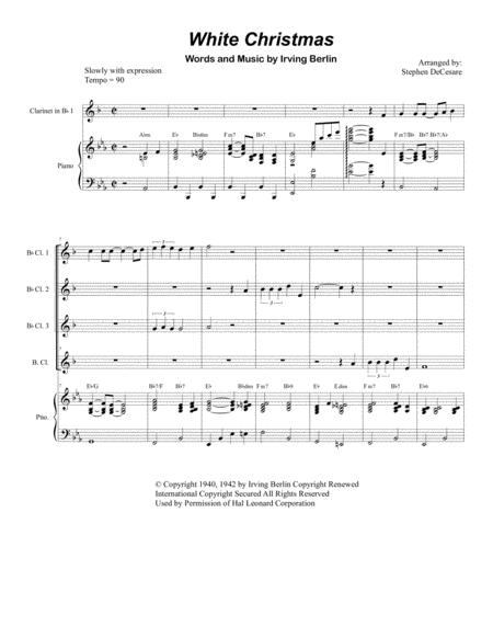 White Christmas (for Clarinet Choir)