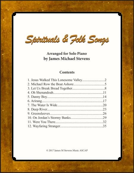Spirituals and Folk Songs (Piano Solos)