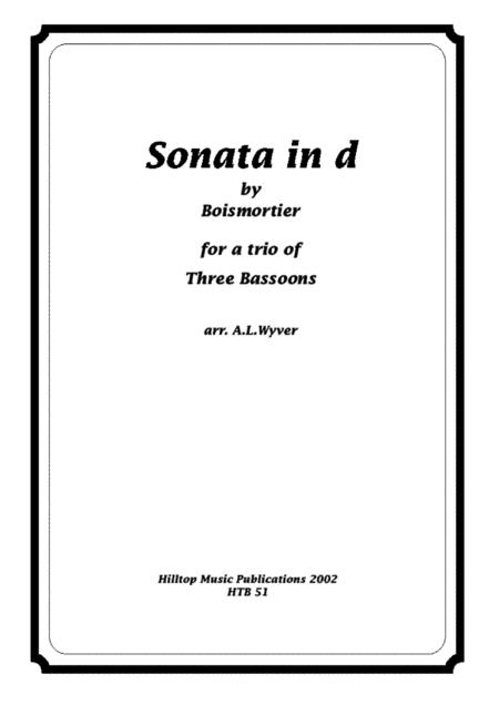 Sonata in d arr. three bassoons