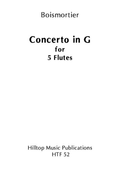 Concerto in G Op. 15 No. 1 for five flutes
