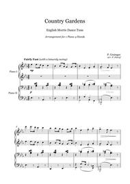 Percy Grainger - Country Gardens - 1 piano 4 hands
