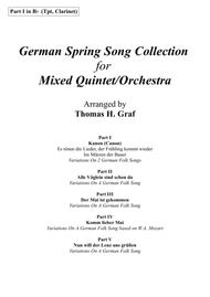 German Spring Song Collection - 5 Concert Pieces - Multiplay - Part 1 in Bb