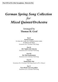 German Spring Song Collection - 5 Concert Pieces - Multiplay - Part 3 in Eb
