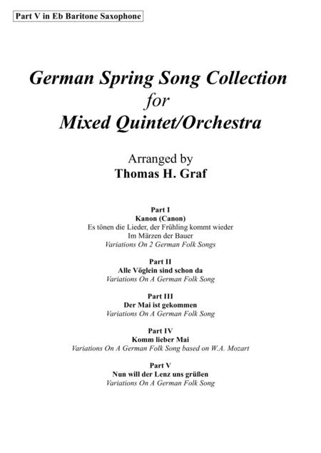 German Spring Song Collection - 5 Concert Pieces - Multiplay - Part V in Eb