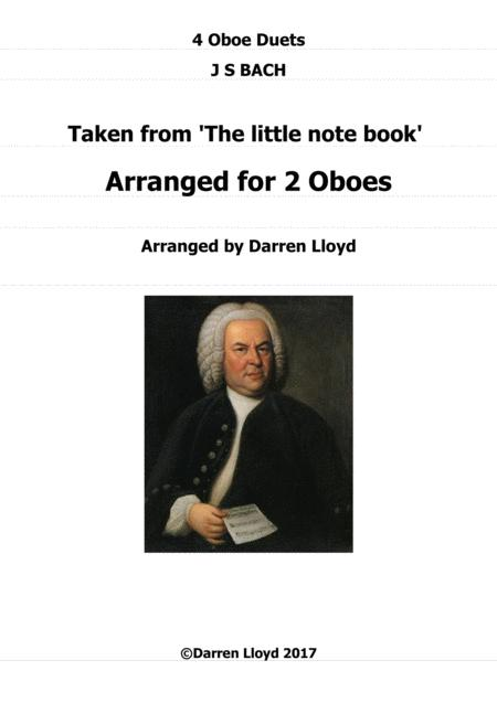 Oboe duets - 4 duets from Bach's 'Little notebook'.