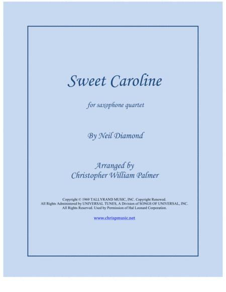 Sweet Caroline (Sax Quartet)