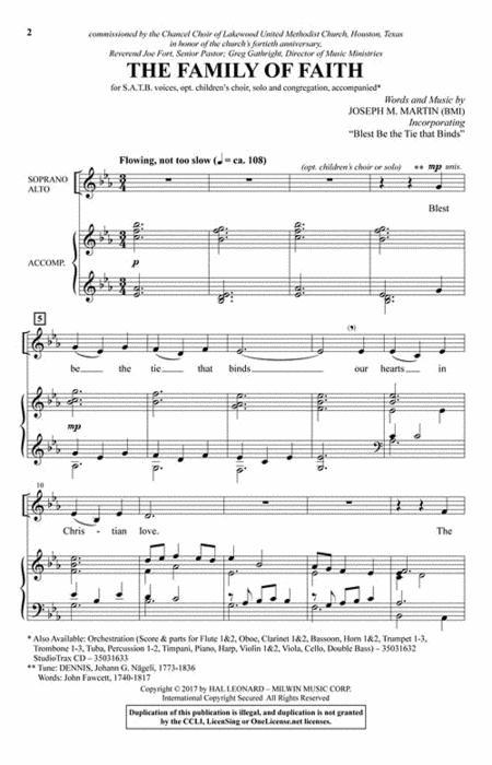 Sheet music: The Family of Faith (Choral SATB)