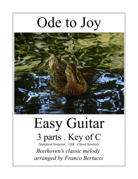 Ode to Joy - Easy Guitar - 3 Parts