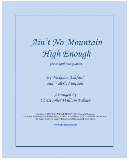 Ain't No Mountain High Enough (Saxophone Quartet)