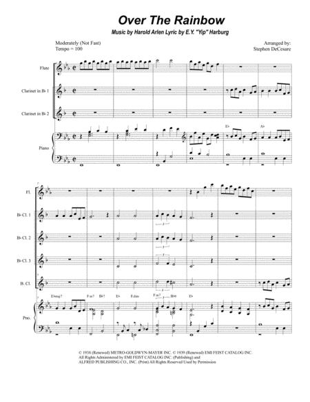 Over The Rainbow (from The Wizard Of Oz) (for Clarinet Choir)