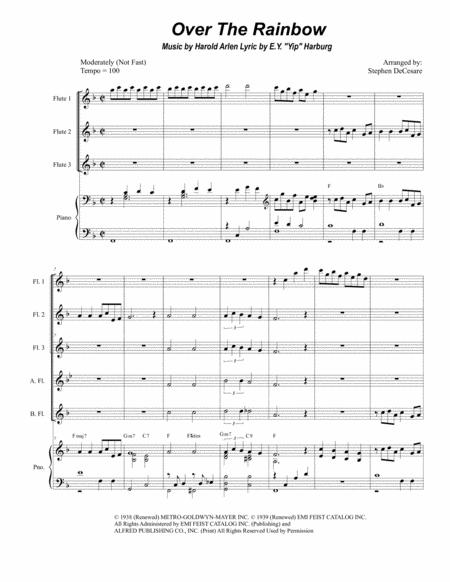 Over The Rainbow (from The Wizard Of Oz) (for Flute Choir)