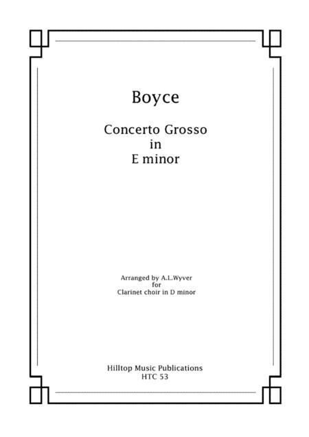 Boyce  Concerto Grosso arr. clarinet choir