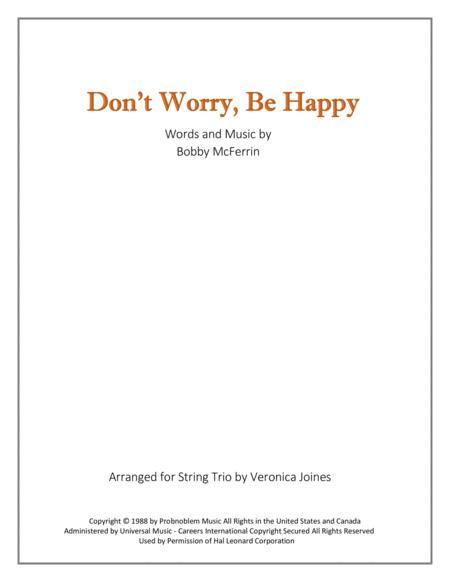 Don't Worry, Be Happy for String Trio (Violin 1, Violin 2, Cello)