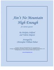 Ain't No Mountain High Enough (Clarinet Quartet)