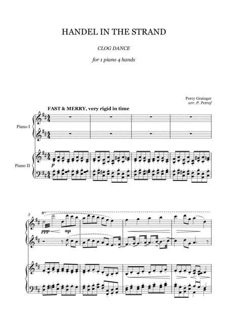 Percy Grainger - HANDEL IN THE STRAND - 1 piano 4 hands