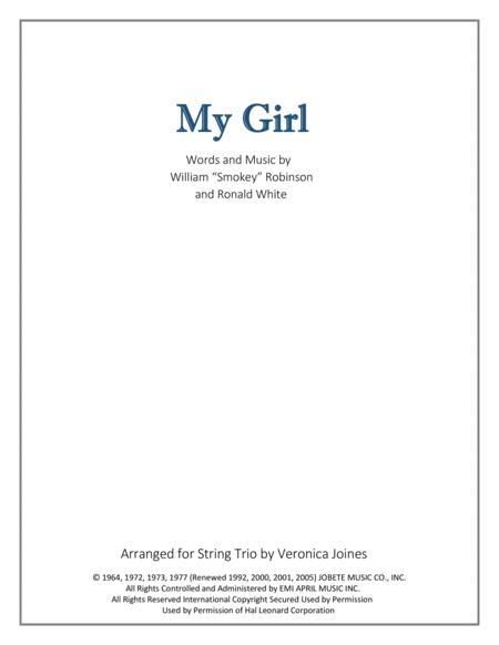 My Girl for String Trio (Violin 1, Violin 2, Cello)