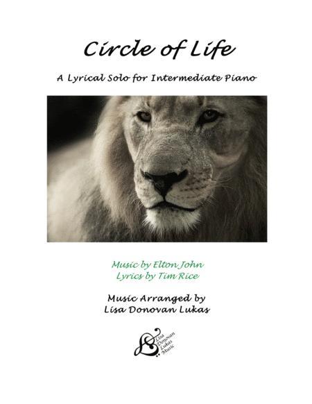 Circle Of Life for Intermediate Solo Piano
