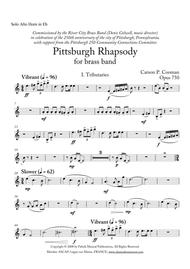 Carson Cooman: Pittsburgh Rhapsody (2008) for brass band, Solo Eb alto horn part