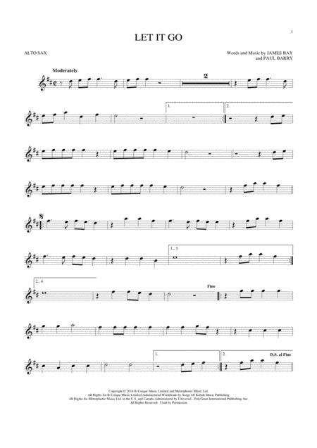 Download Let It Go Sheet Music By James Bay - Sheet Music Plus