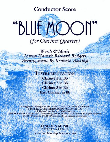 Blue Moon (for Clarinet Quartet)