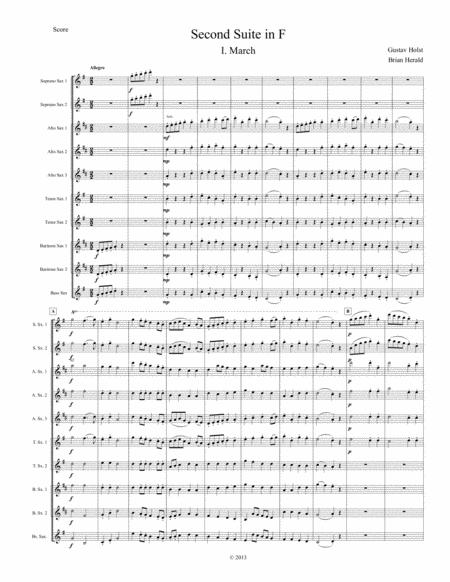 Second Suite in F for Saxophone Ensemble