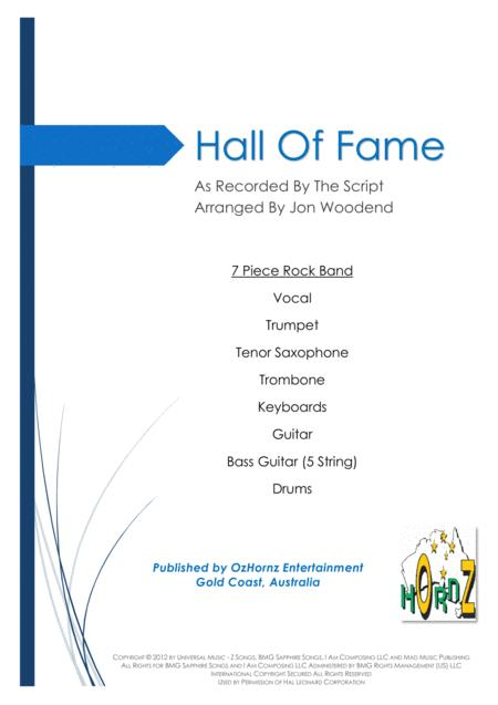 Hall Of Fame - 7 Piece Horn Chart