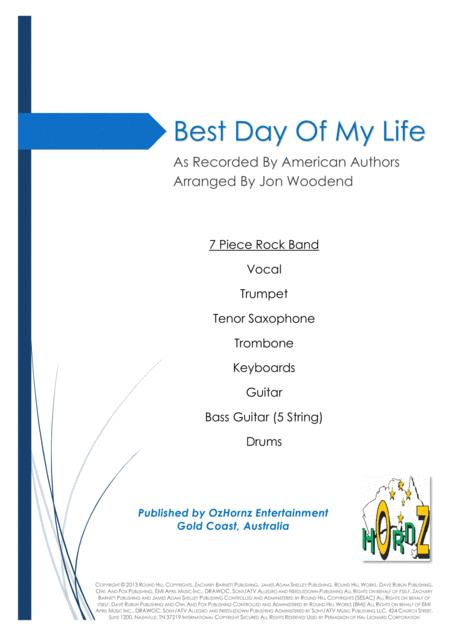 Download Best Day Of My Life - 7 Piece Horn Chart Sheet