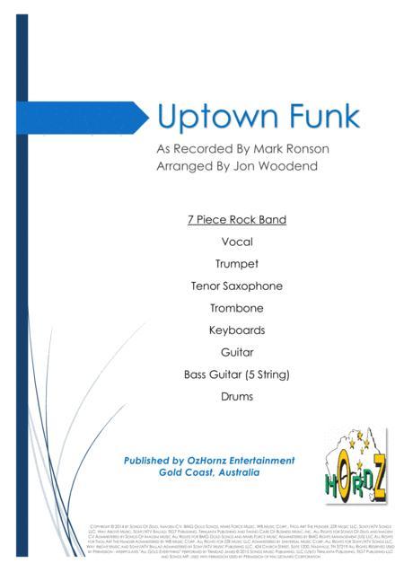 Uptown Funk - 7 Piece Horn Chart