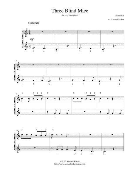 Three Blind Mice - for very easy piano