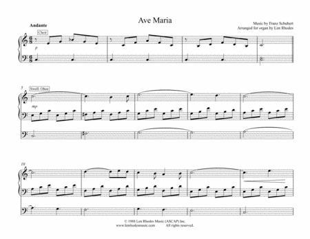 Ave Maria - Franz Schubert, for Organ Solo
