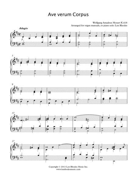 Mozart - Ave Verum Corpus, keyboard solo