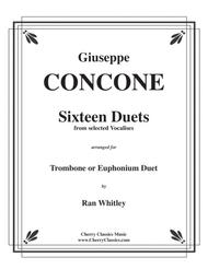Sixteen Duets from selected Vocalises for Trombone or Euphonium