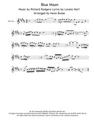 Download Blue Moon - Alto Sax (Sax Solo) Sheet Music By