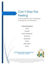 Can't Stop The Feeling  from TROLLS - 7 Piece Horn Chart