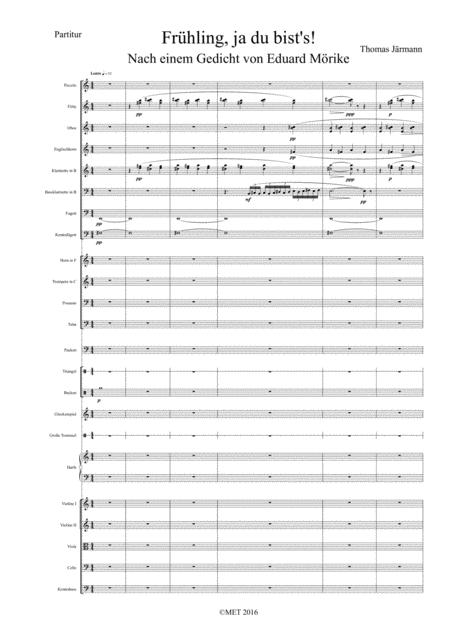 Download Frühling Ja Du Bists Sheet Music By Thomas