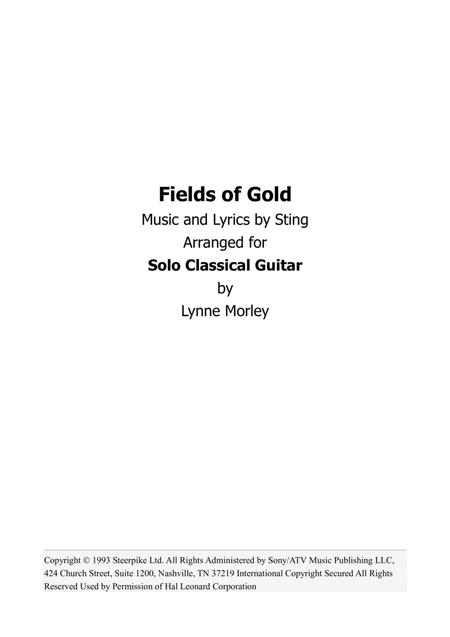 Download Fields Of Gold For Classical Guitar Sheet Music By Sting ...