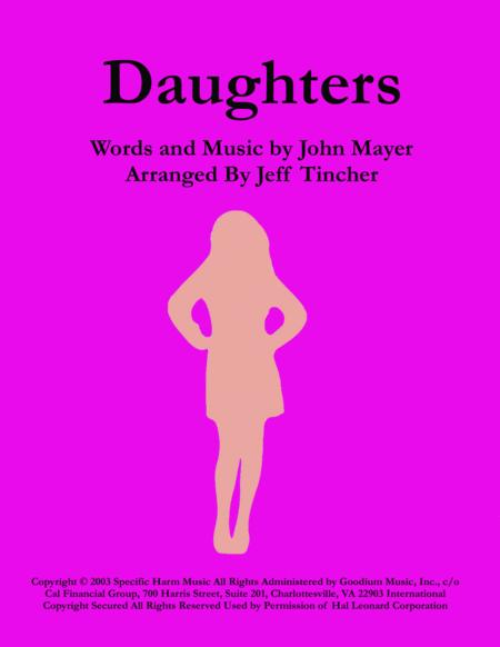 Download Daughters Sheet Music By John Mayer Sheet Music Plus